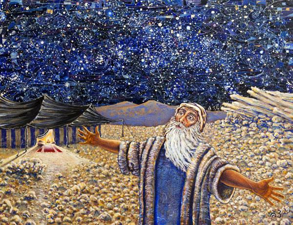 Painting by Israeli artist Zvi Leonhard