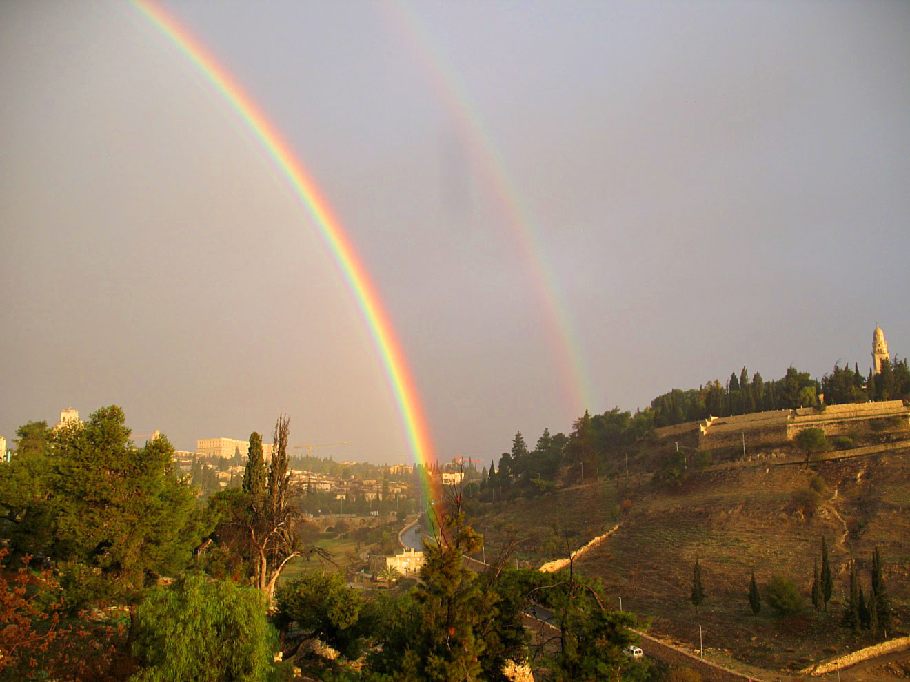 Rainbow in Ben Hinnom