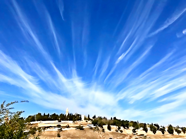 Clouds Over Mount Zion